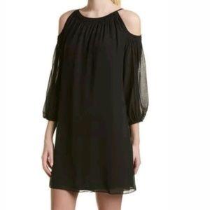 Max Studio Black Cold Shoulder Dress XS S M